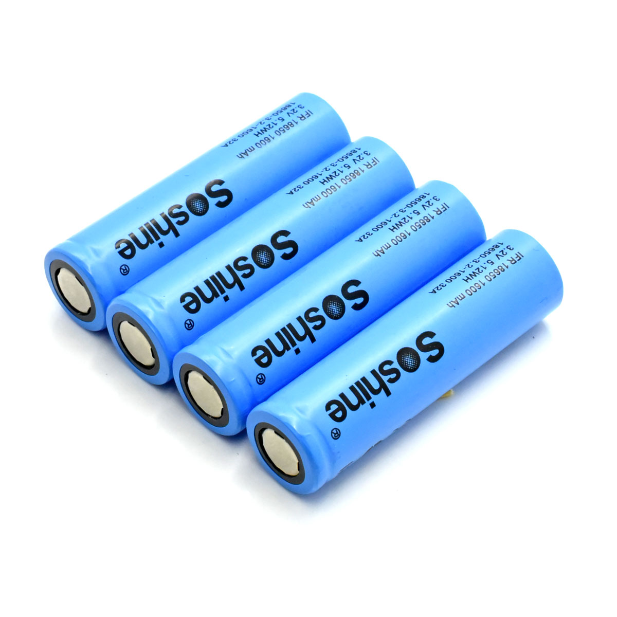 Soshine 18650 LiFePO4 Battery: 1600mAh 3.2V